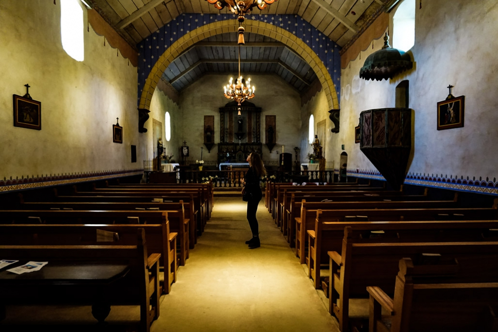 Inside of the church at the haunted Mission San Antonio de Padua.