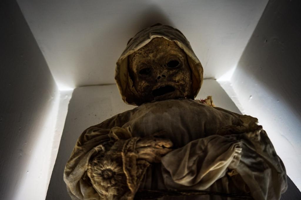 Museo de las Momias mummified baby.