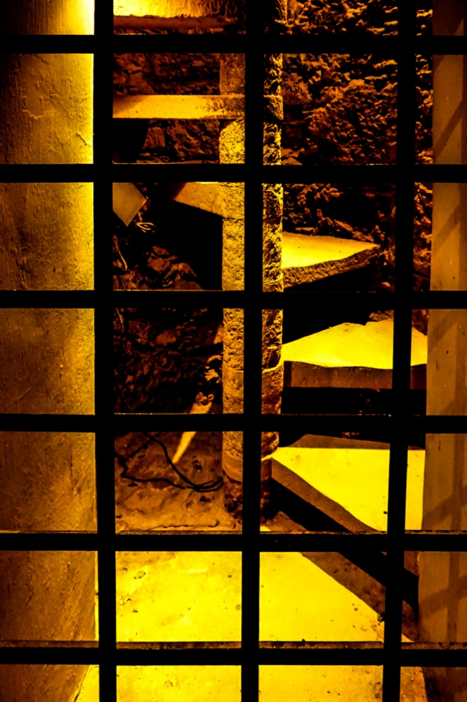 Stairs to graveyard above Guanajuato Mummy Museum.