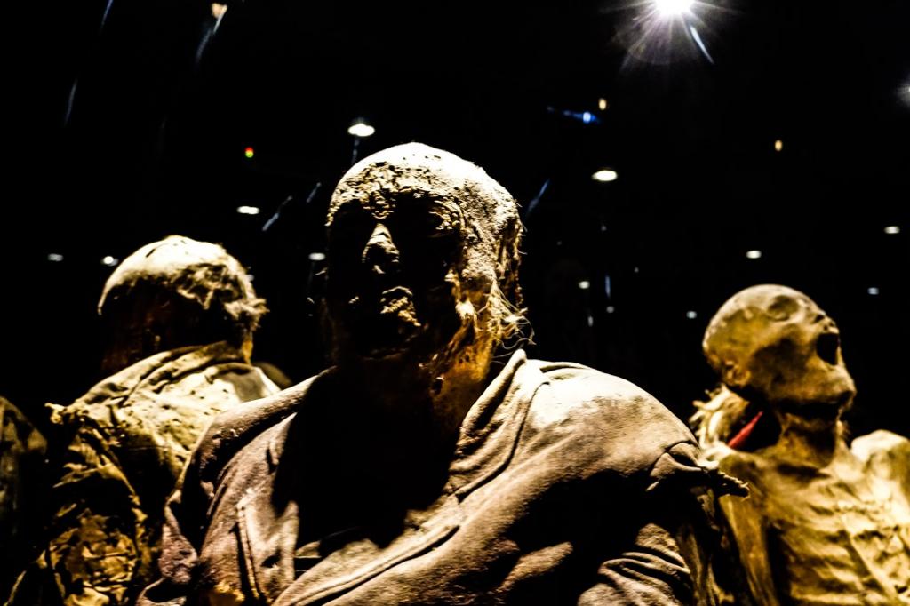 Display at Guanajuato's Mummy Museum.