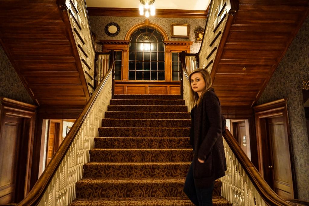 Estes Park, Colorado's Stanley Hotel grand staircase.