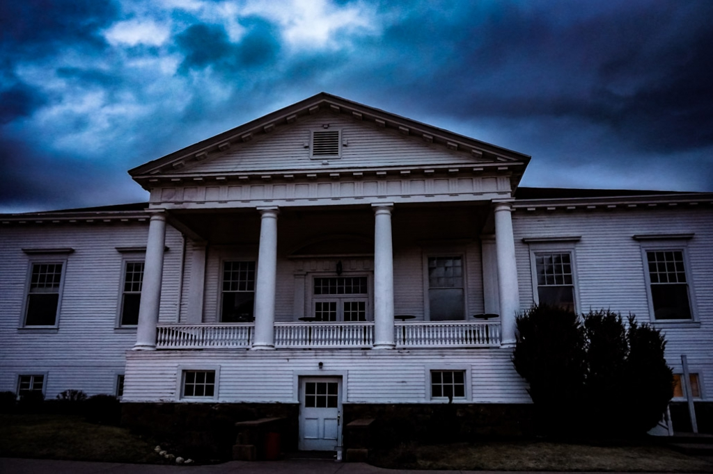 The extremely haunted Concert Hall of the Stanley Hotel.