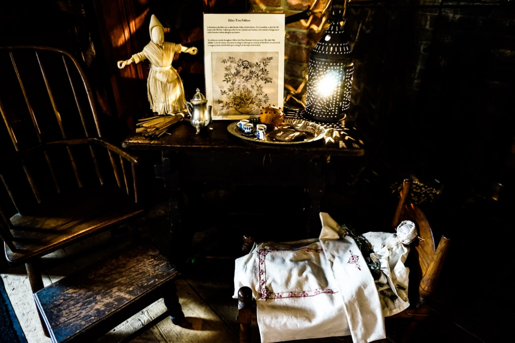 Decor inside Salem's Witch House.