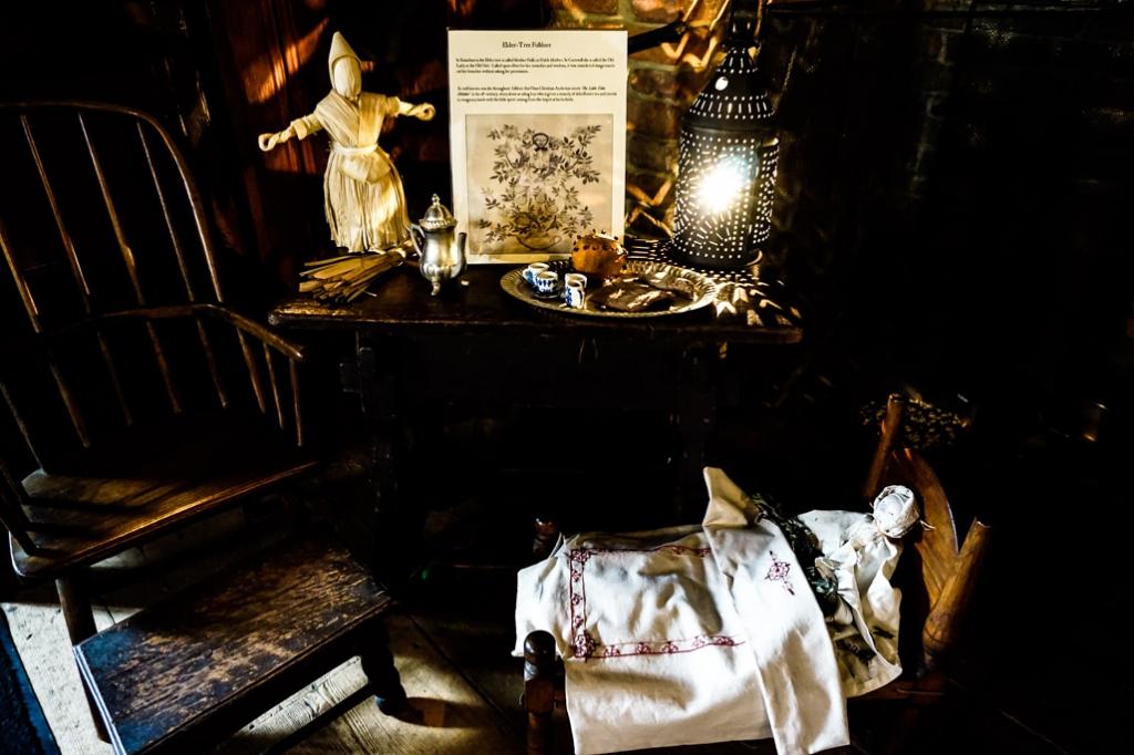 Decor inside Salem's Witch House.