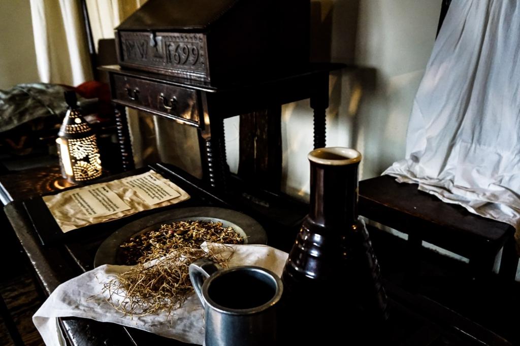 Herbs inside Salem, MA Witch House.