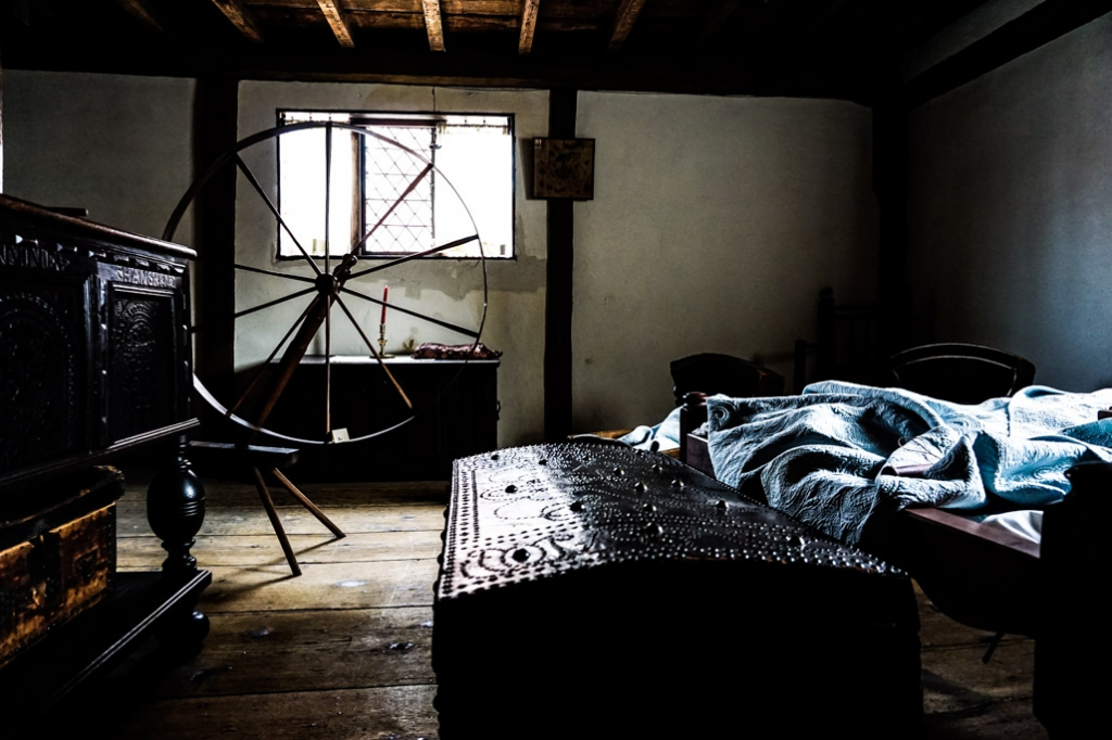 A bedroom of the Witch House in Salem, MA.