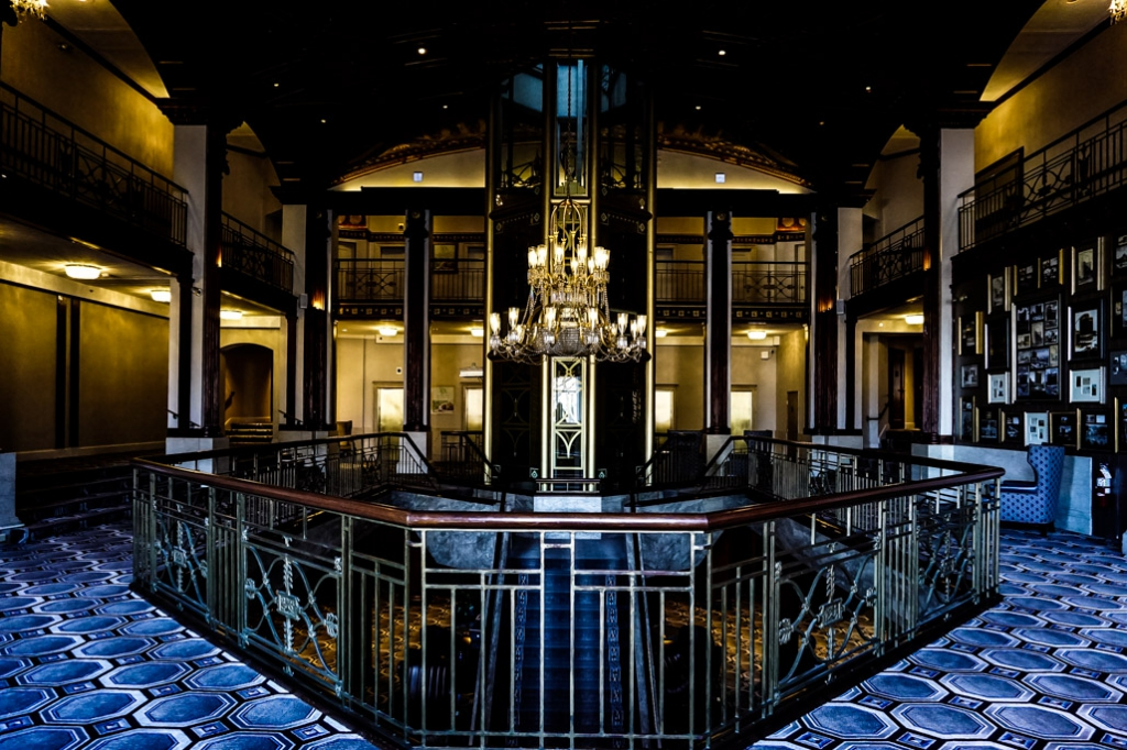 Glass elevator haunted Providence Biltmore Hotel.