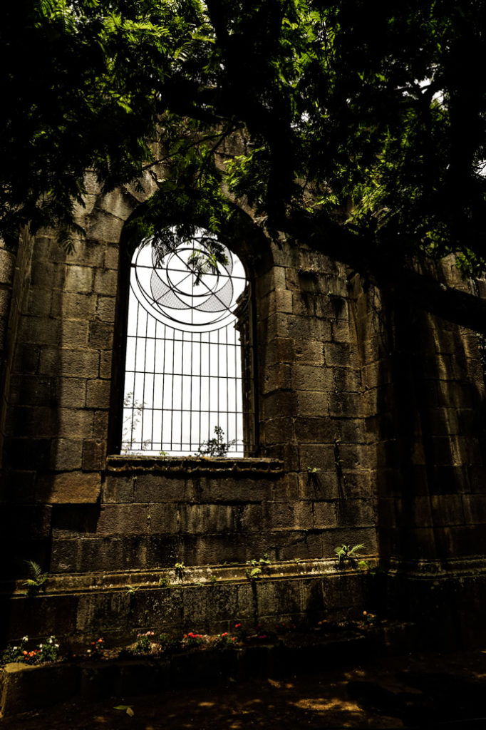 Details of the haunted Cartago Church Ruins.