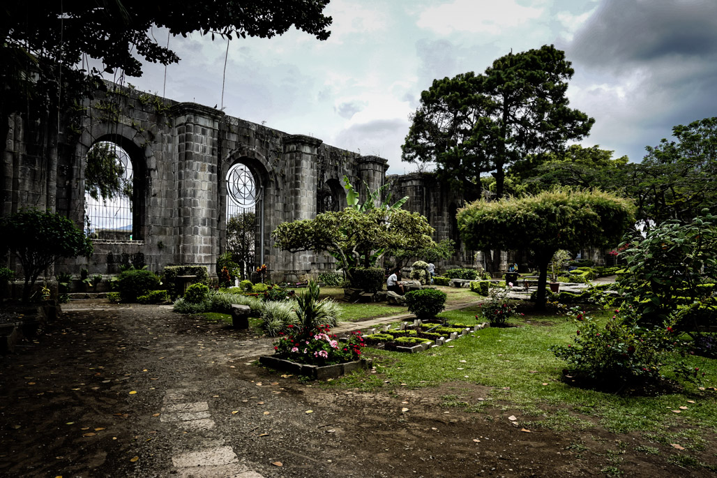 Garden inside the Cartago Church Ruins.