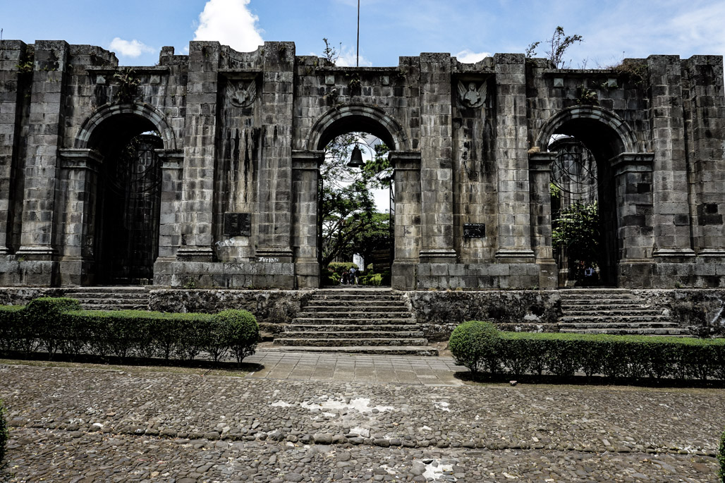 Cursed and haunted church ruins in Cartago, Costa Rica.