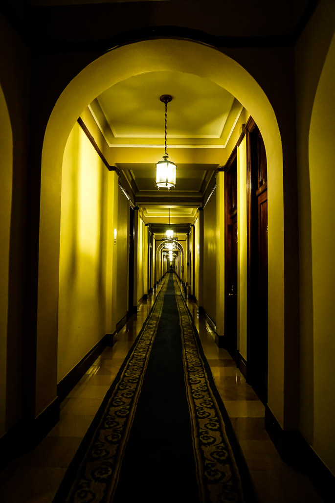 Haunted hallways in Peru's most haunted hotel.