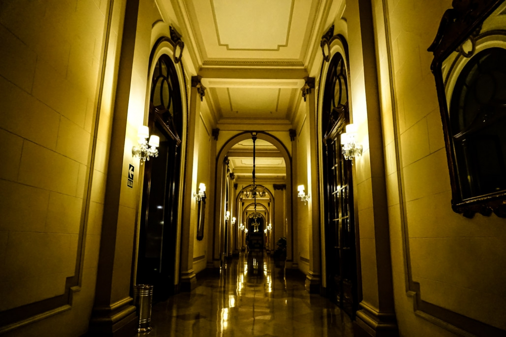 Haunted halls of the Gran Bolivar Hotel, Lima, Peru.