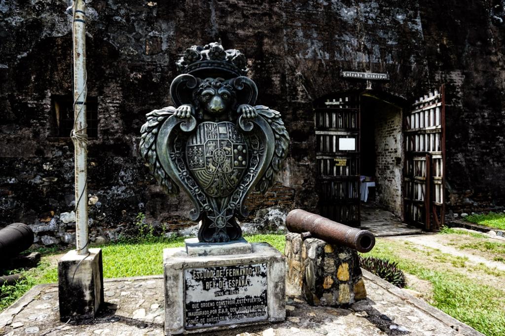 Haunted Fortress in Omoa, Honduras entrance.