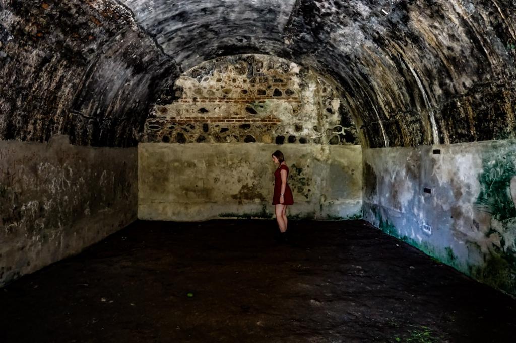 Inside rooms of the San Fernando Fort in Omoa.
