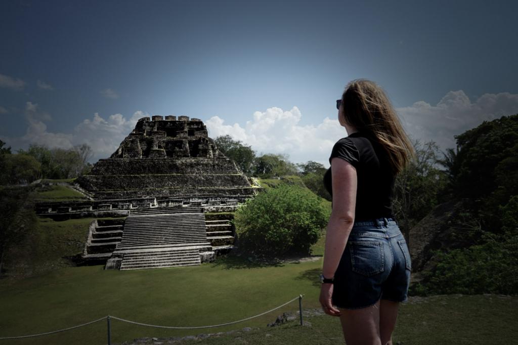 Haunted El Castillo pyramid of Xunantunich.