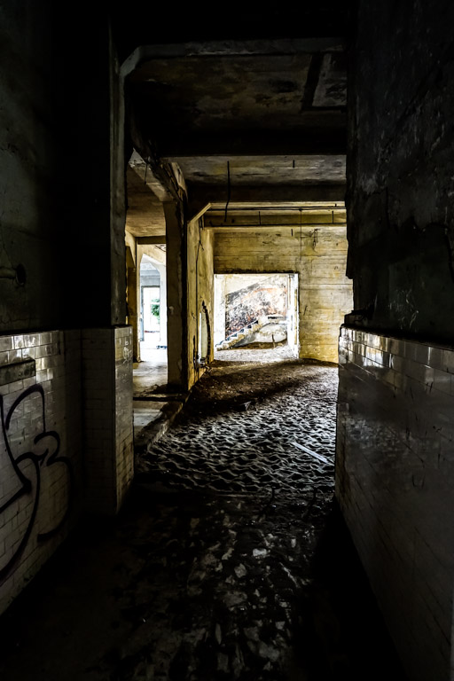 Urban exploration on Angel Island.