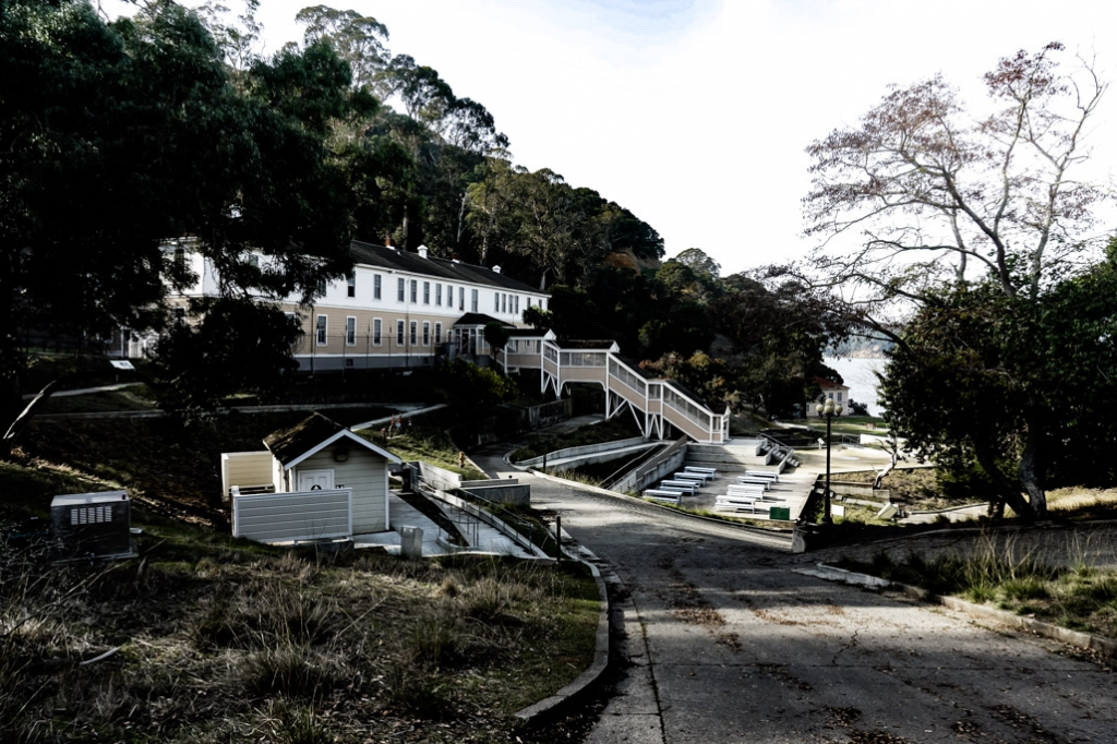 Haunted immigration station on Angel Island, California.