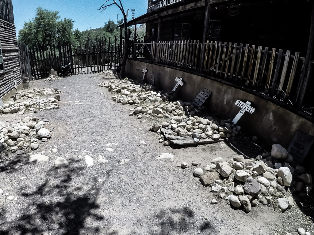 Haunted cemetery in Bonnie Springs Ranch Nevada.