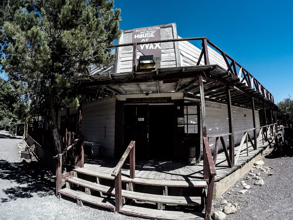 Creepy and haunted wax museum in Bonnie Springs Ranch, just outside of the Las Vegas strip.
