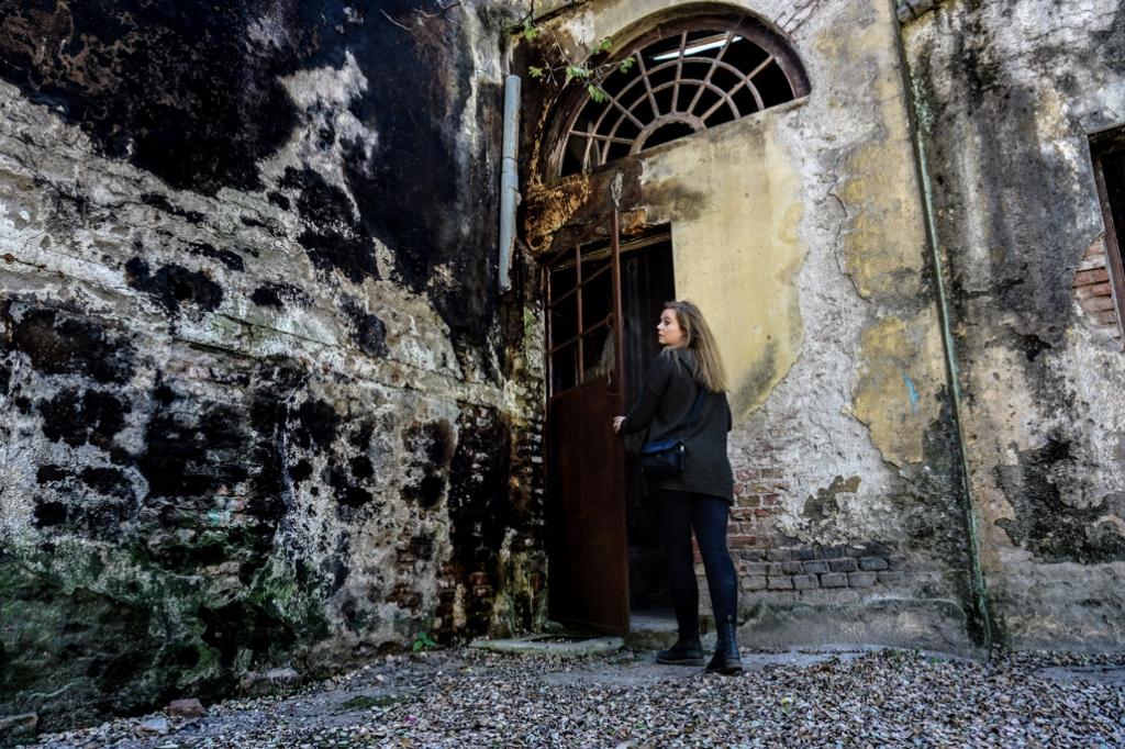 Abandoned Eden Hotel ruins, Argentina.