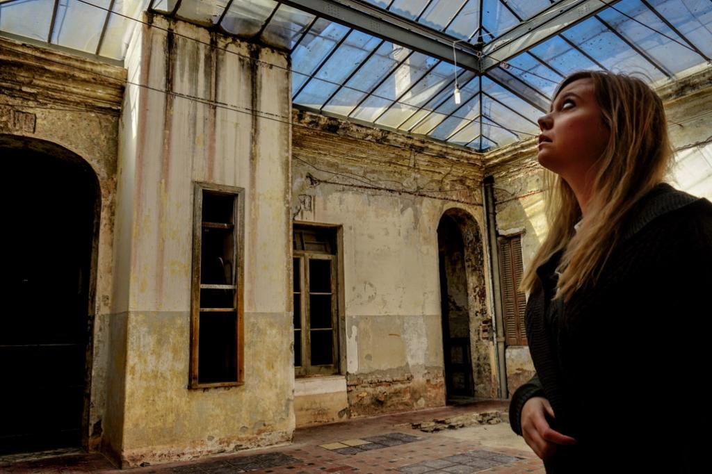 Inside the abandoned Eden Hotel, Argentina.