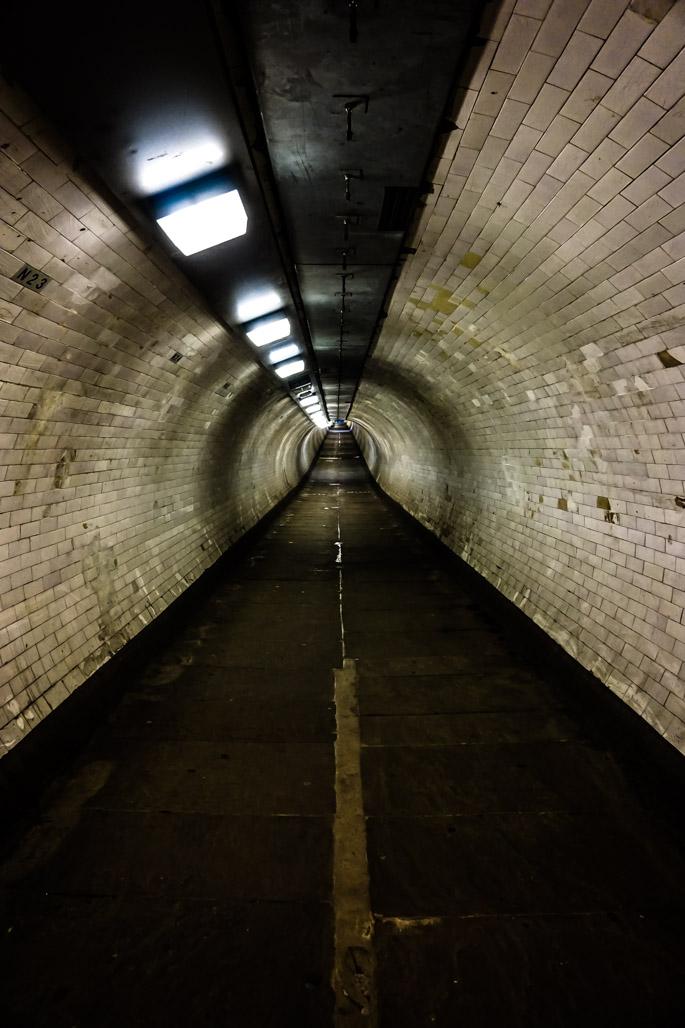 Haunted Greenwich Foot Tunnel in London.
