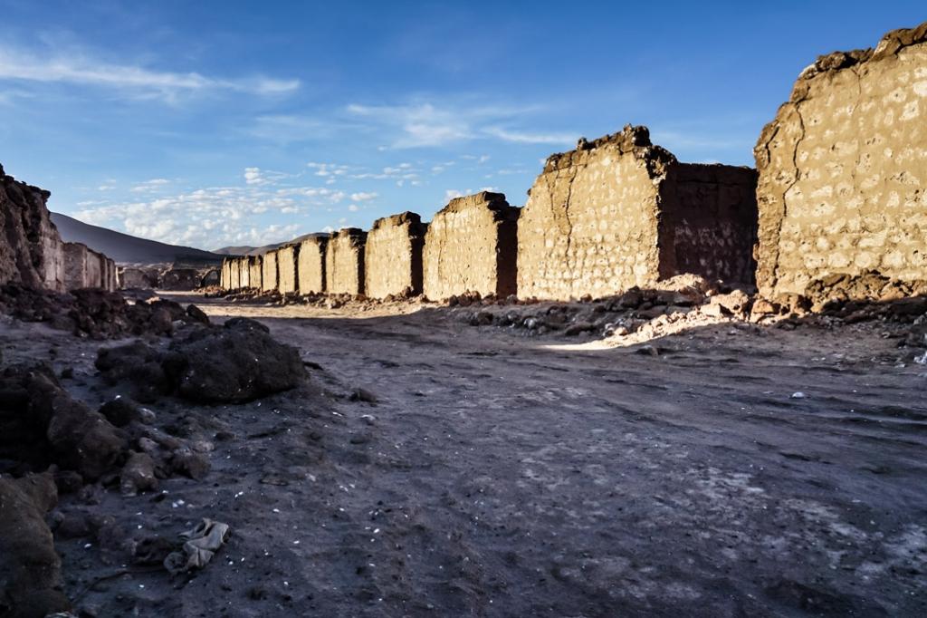 Ruins of the La Noria Ghost Town in Chile.