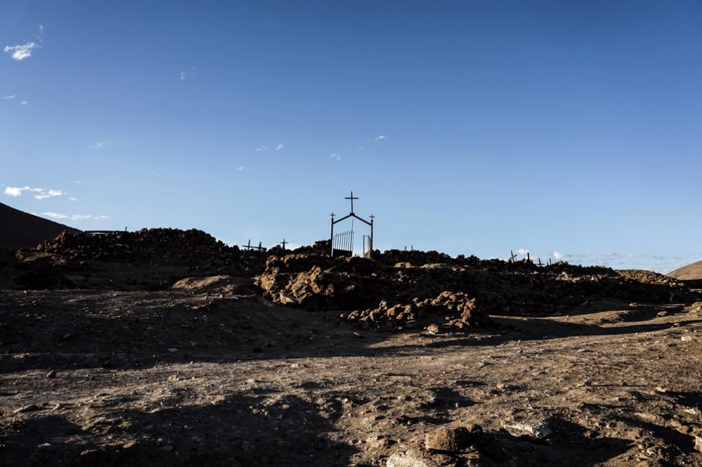 La Noria cemetery in Atacama Desert, Chile.