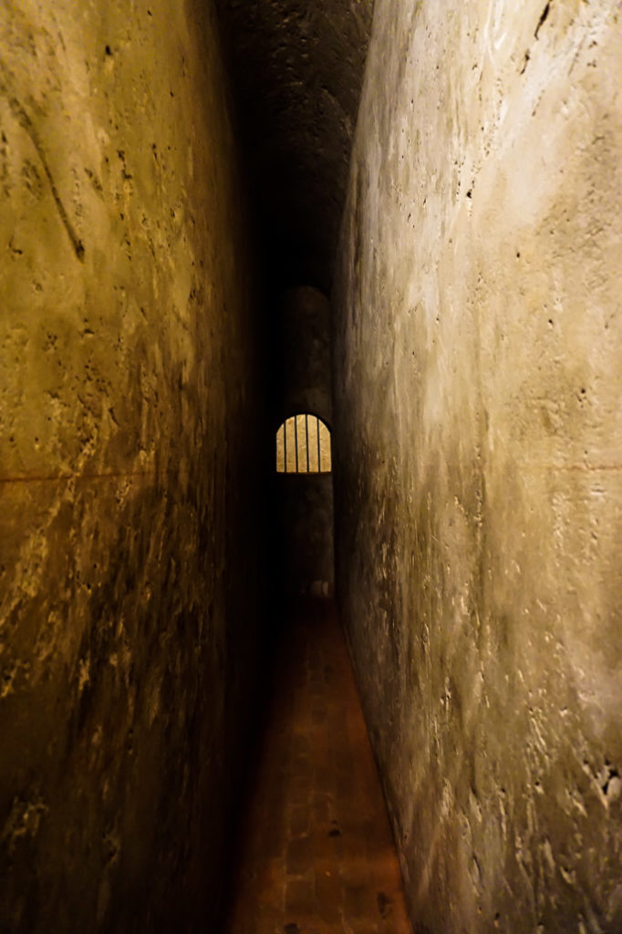 Dungeon in haunted Real Felipe Fortress, Peru.