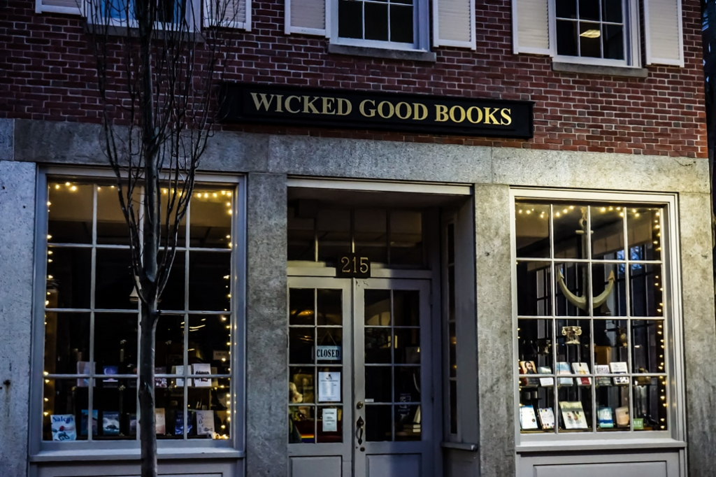 Haunted Wicked Good Books in Salem, MA.