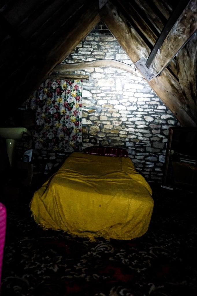 Scary Ancient Ram Inn, attic bedroom.