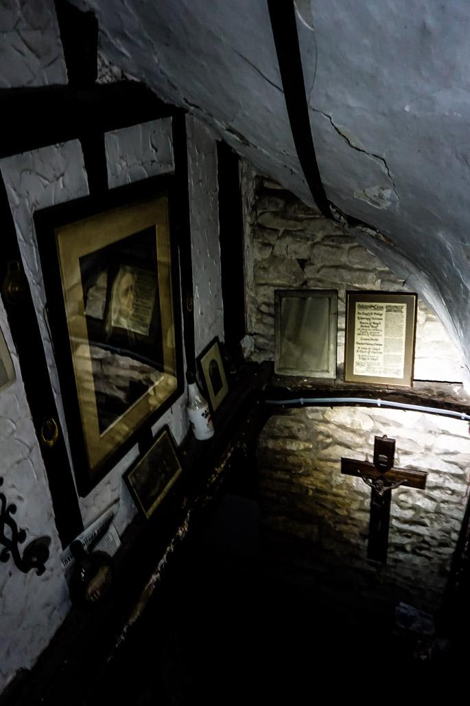 Haunted Ancient Ram Inn, England.