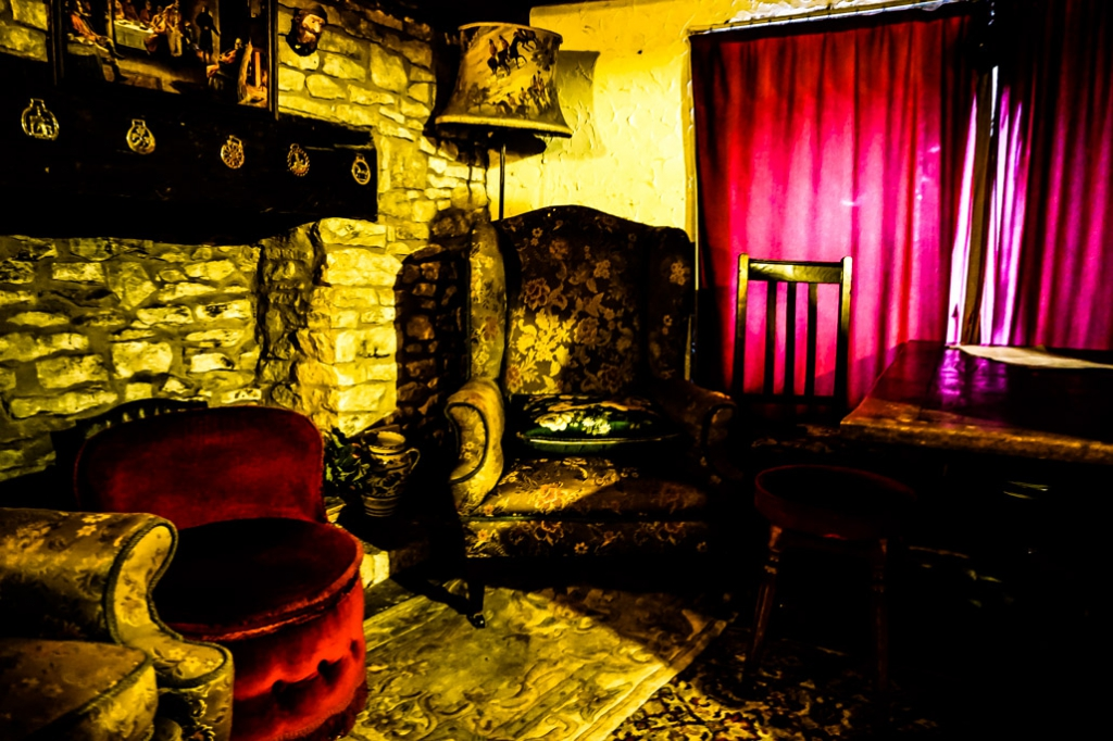 Witches Room in Ancient Ram Inn, England.