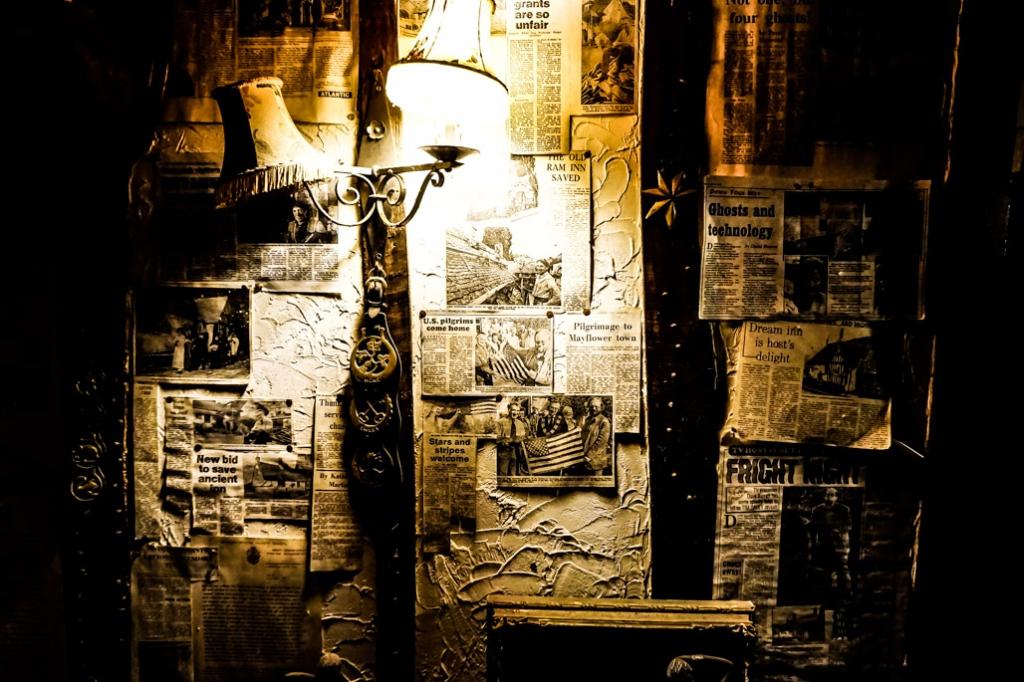 Wall inside Ancient Ram Inn.