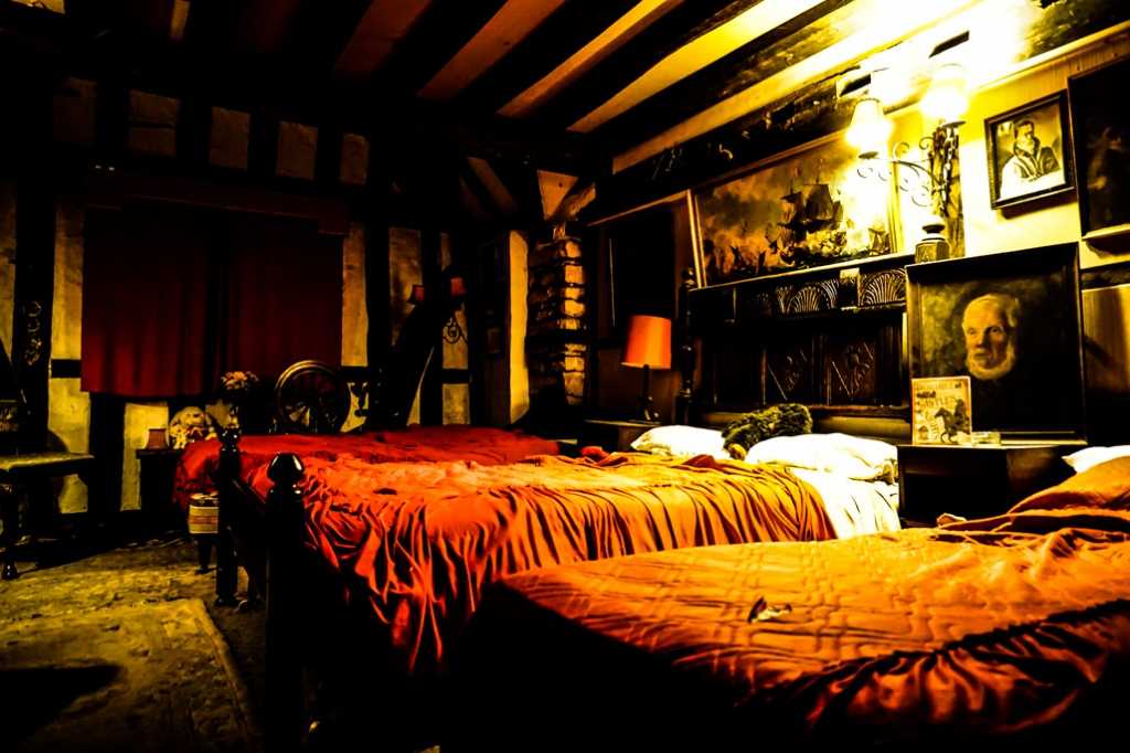 Haunted Bishop's Room, Ancient Ram Inn, England.