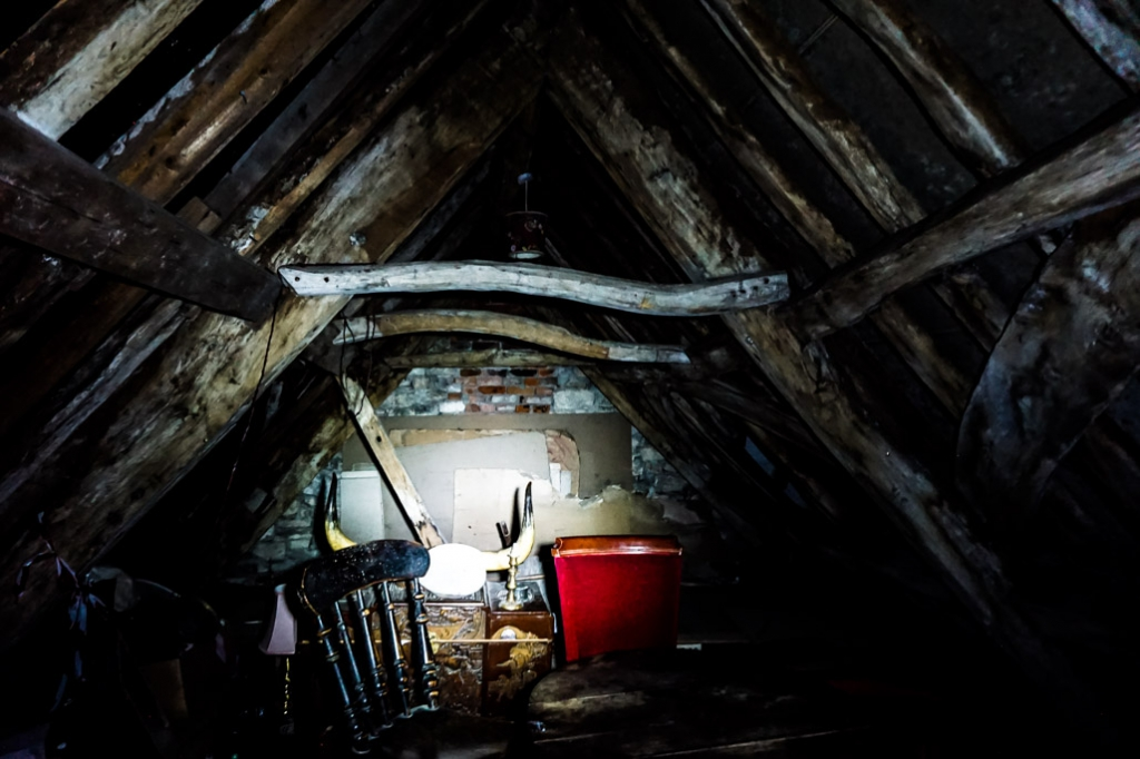 Ancient Ram Inn attic.