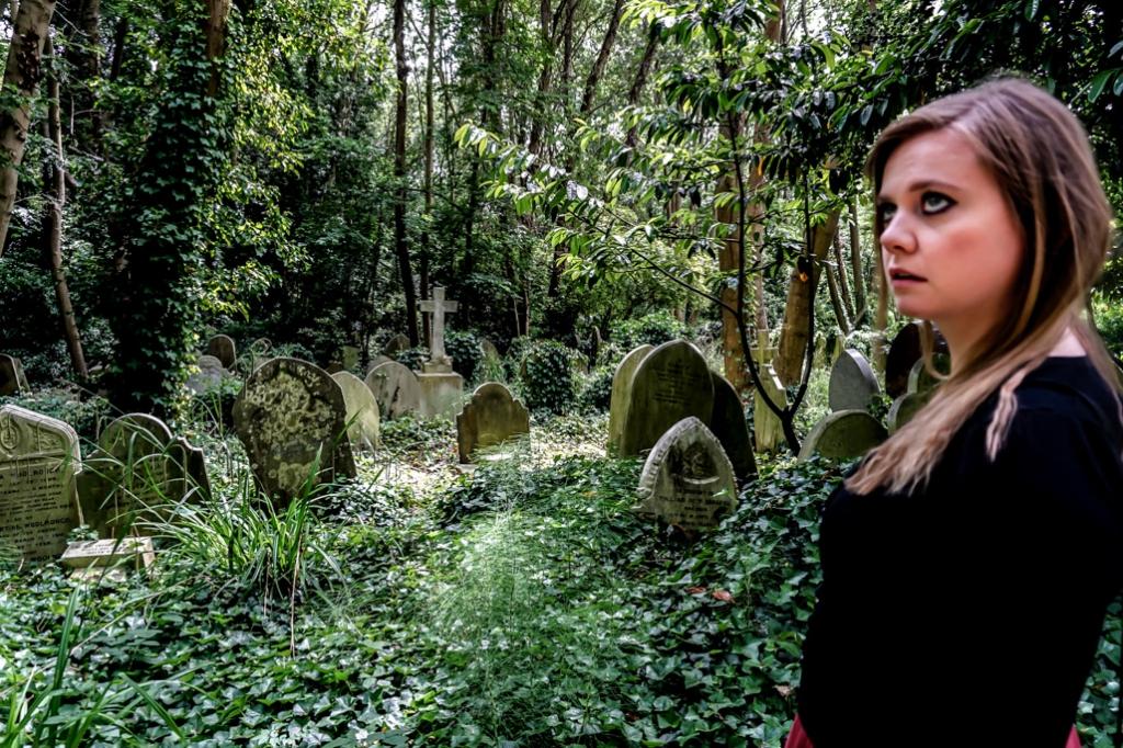 Vampire hunting in Highgate Cemetery.