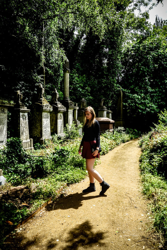 Looking for the Highgate Vampire.