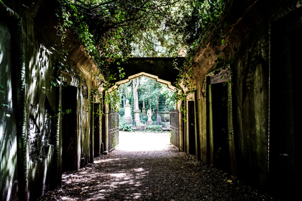 Haunted Highgate Cemetery in London.