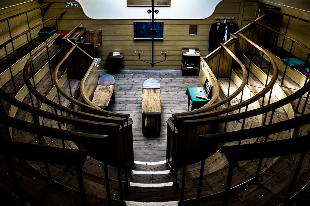 Oldest operating theater in Europe.
