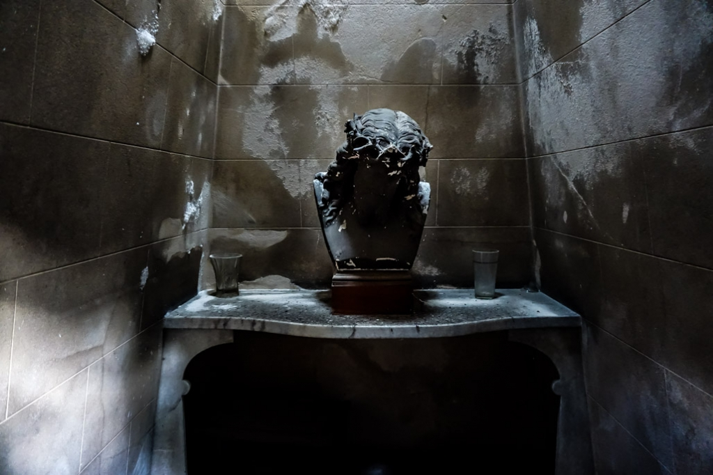Inside one of La Recoleta Cemetery's tombs.