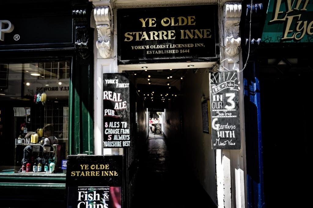 The haunted Ye Olde Starre Inne of York, England.