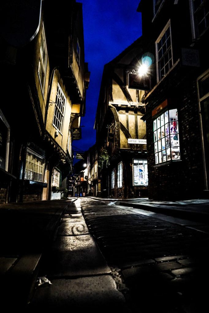 Ghost walk down the Shambles of York.
