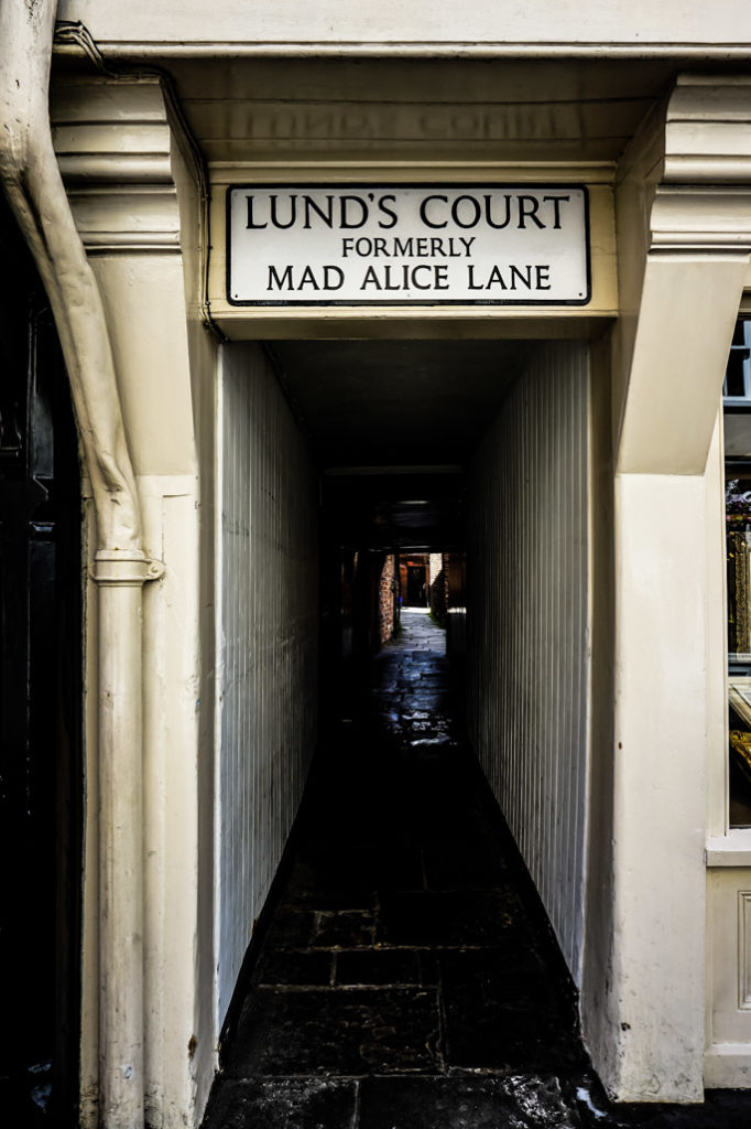 Lund's Court in York, England. (Formerly known as Mad Alice Lane.