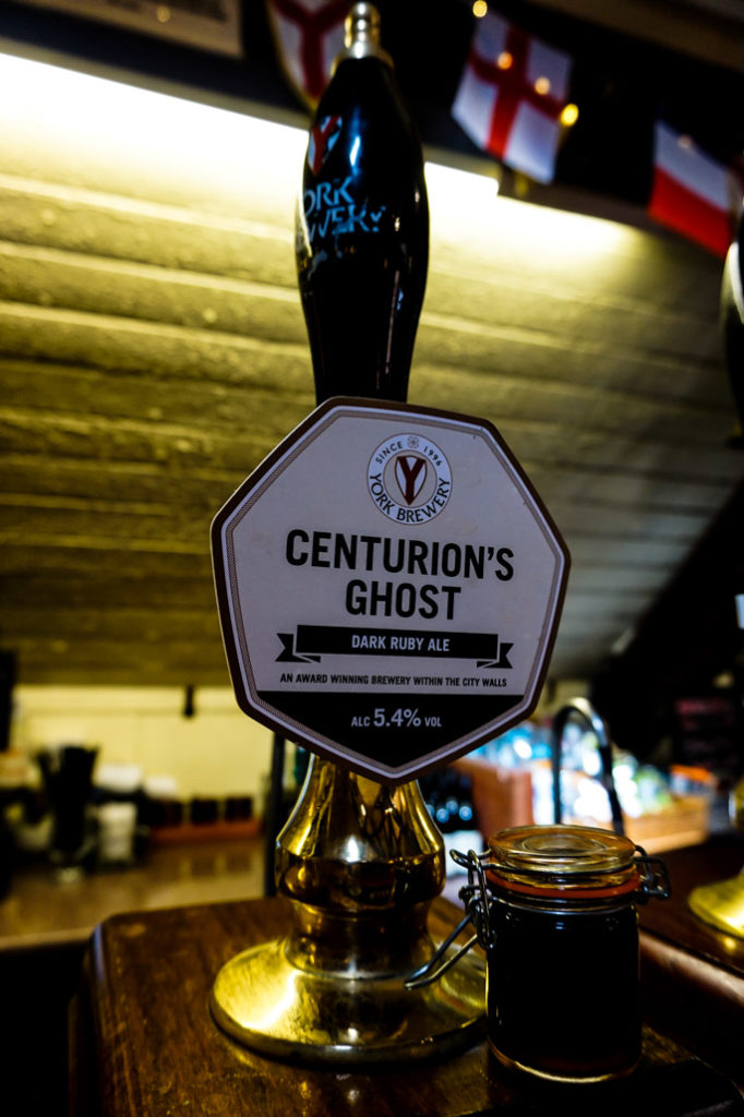 Centurion's Ghost Ale at the York Brewery.