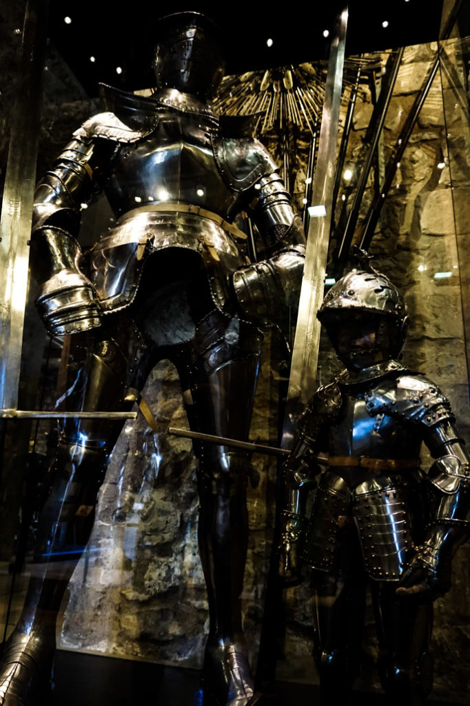 Suits of armor in Tower of London.