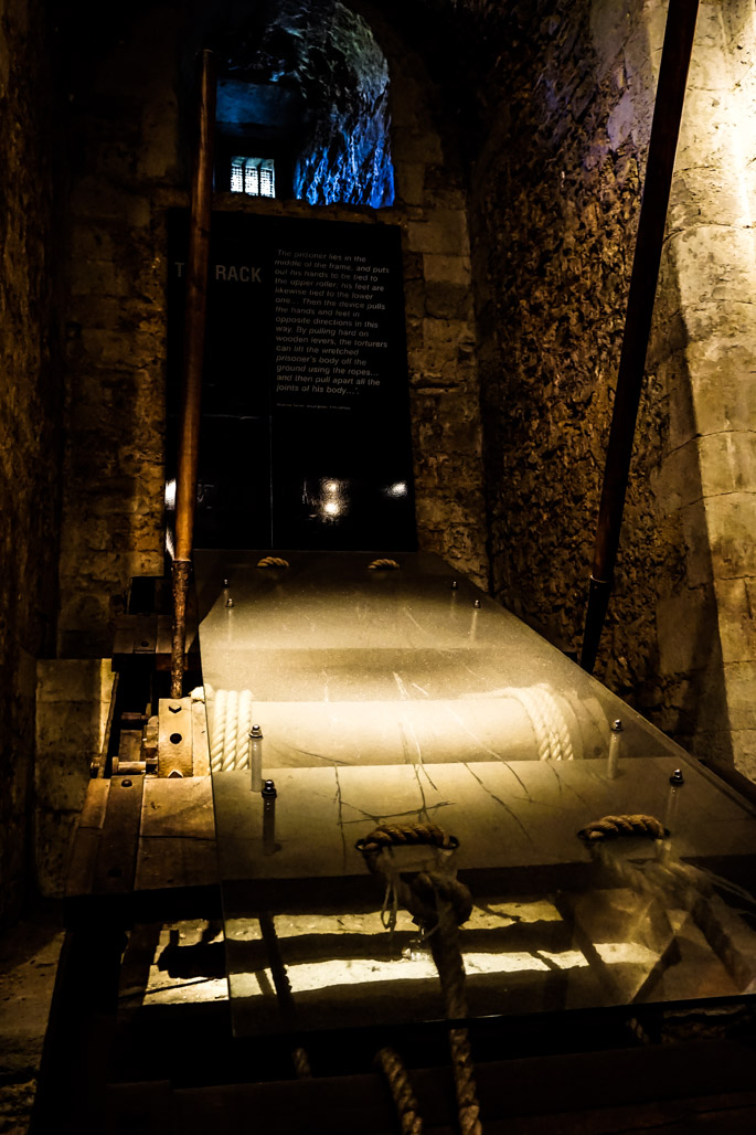 Torture rack in Tower of London.
