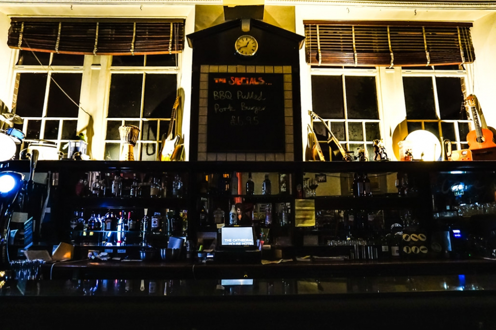 Cathedral House Hotel bar.