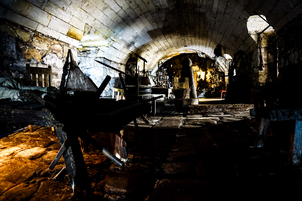 Haunted torture chamber in Chillingham Castle.
