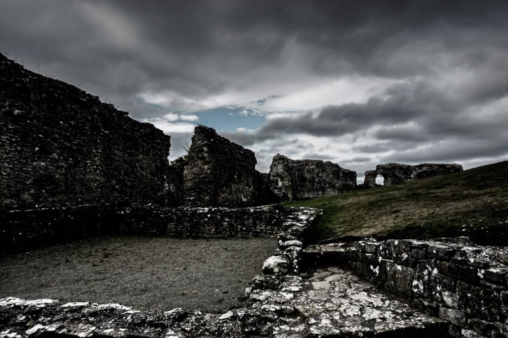 Spooky scenes at Denbigh Castle in Wales.